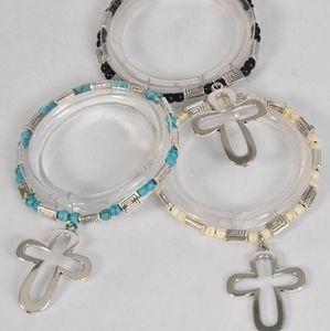 New beaded cross bracelet choice of colors